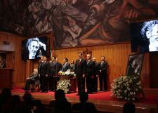 Rinden homenaje a Juan José Arreola en el Paraninfo